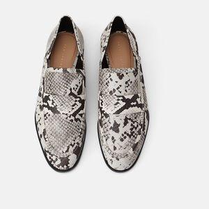 NWT Zara Animal Print Loafers Size 9